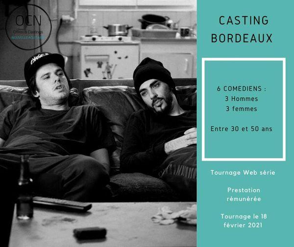 Casting aquitaine bordeaux comédiens film publicitaire web